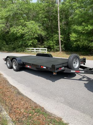 Photo 18 Foot Heavy Duty STEEL Deck Car Hauler with Ramps