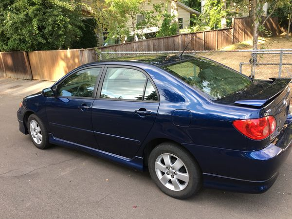 2005 toyota corolla s low miles for sale in portland or offerup. Black Bedroom Furniture Sets. Home Design Ideas