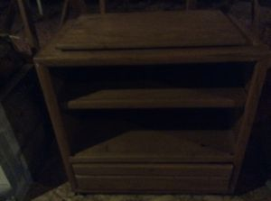 TV stand - wood with drawer and wheels for Sale in Richmond, VA