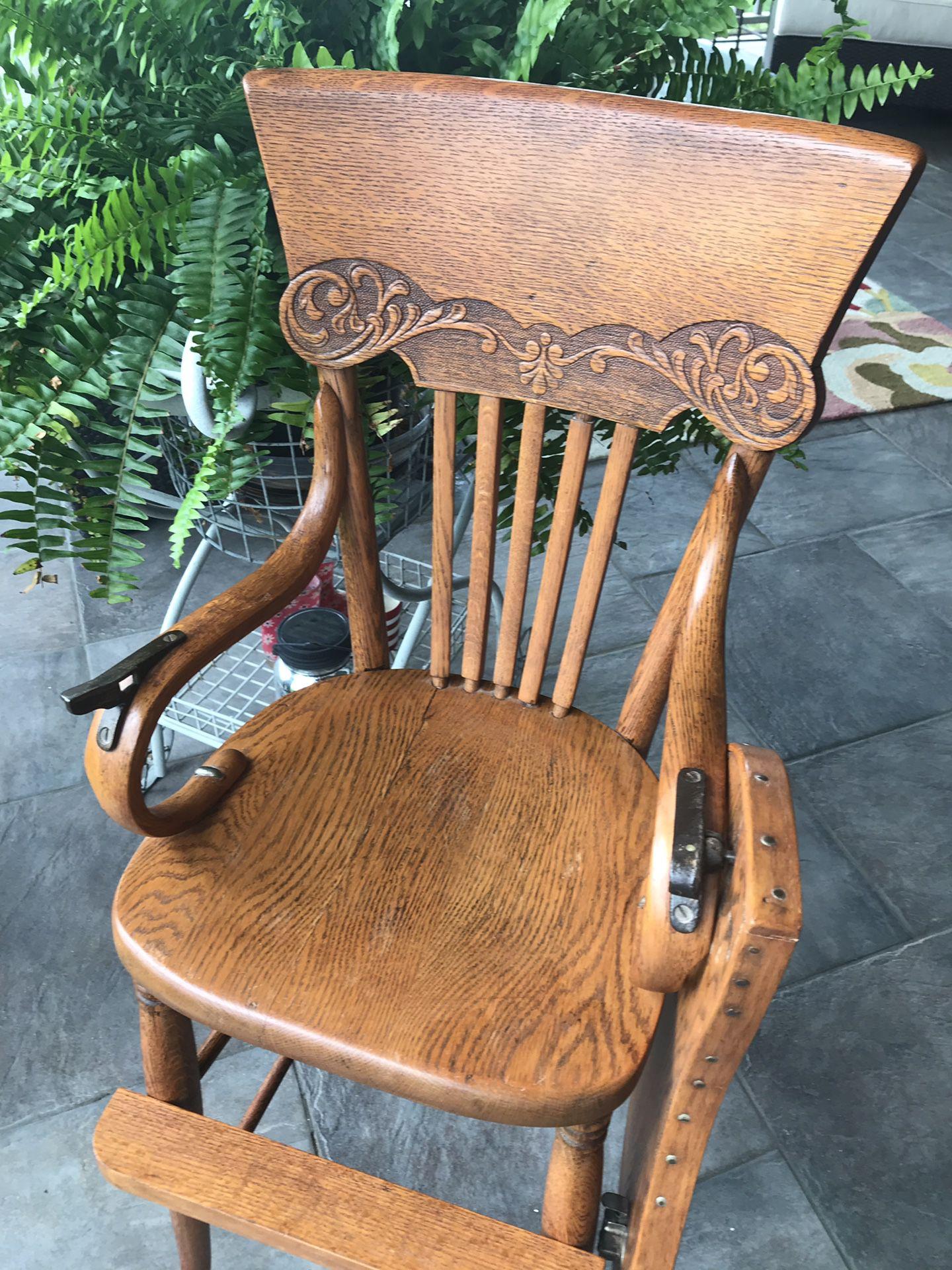 Antique Wooden High Chair