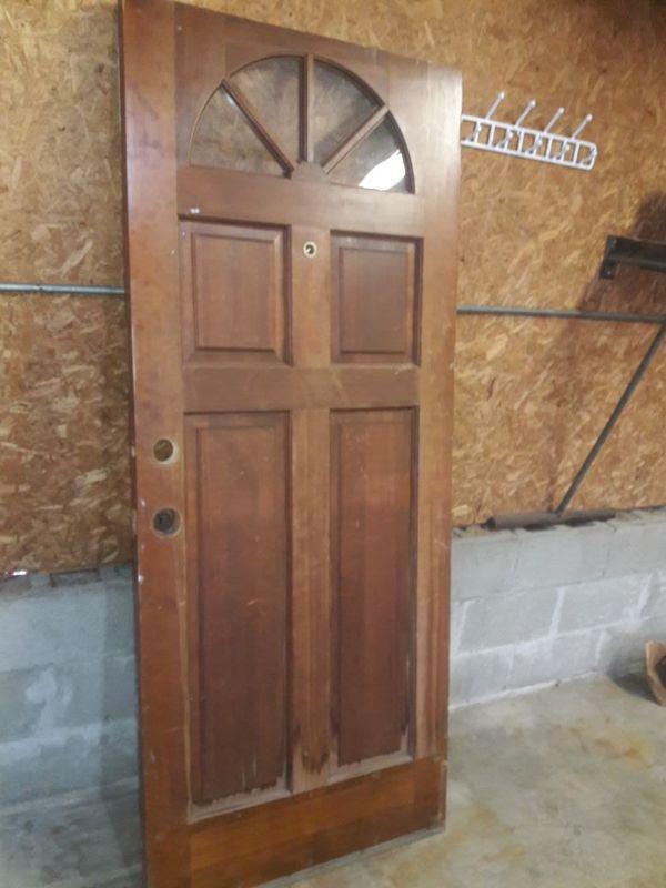 32 X 77 Solid Wood Entry Door For Sale In Cincinnati Oh Offerup