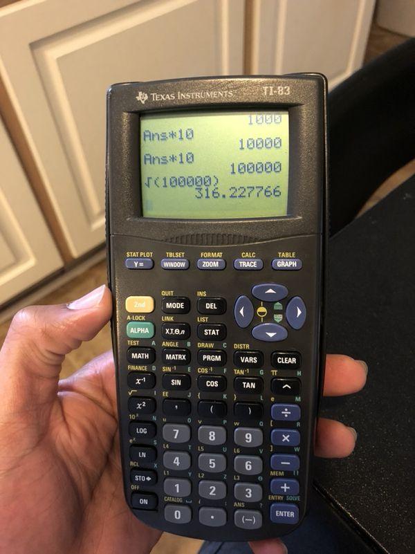 TI 83 Calculator For Sale In Greenville NC