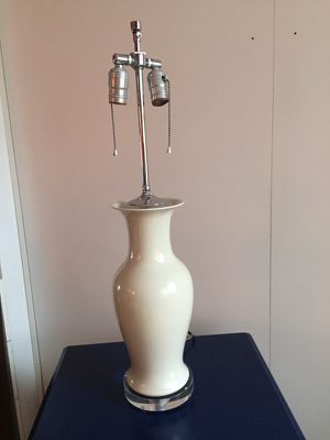 Vintage Crackle Glazed Chinese Base Table Lamp for Sale in New York, NY
