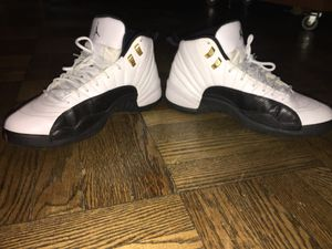 2 pairs of white and black Air Jordans 10 & 12 for Sale in Washington, DC