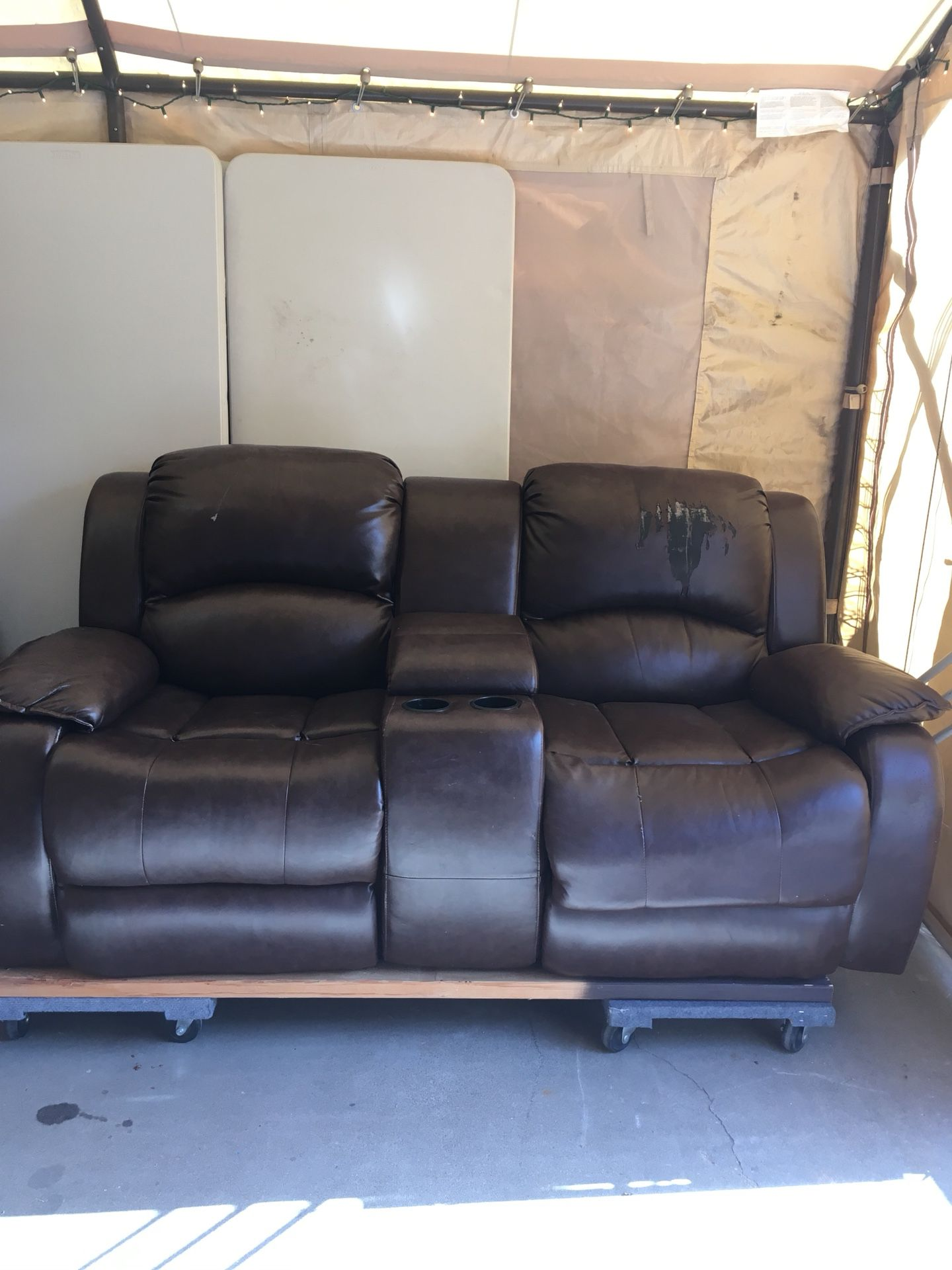 Used electric love seat couch