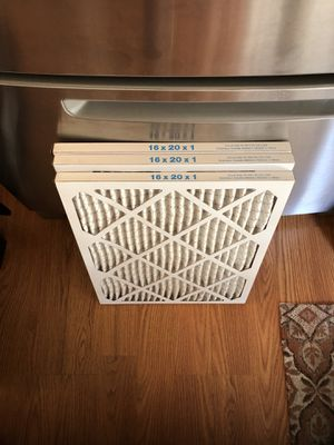 Air filter size 16x20x1 for Sale in Gaithersburg, MD