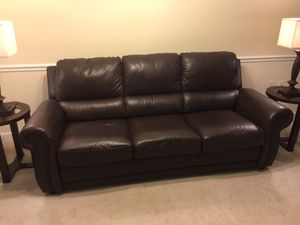 Leather Sofa Bed - Excellent condition!!! for Sale in Arlington, VA