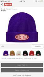 Supreme Oval Patch Beanie  Purple  FW 18 Week 4 for Sale in Monroe ... e308781bb645