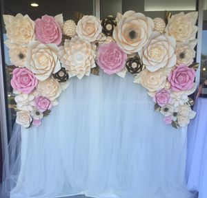 Paper flowers for sale in los gatos ca offerup cream pink and gold paper flower backdrop birthday wedding for sale in hayward ca mightylinksfo