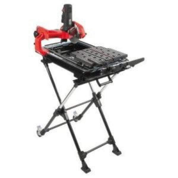 Husky 7in Wet Tile Saw With Laser And Stand Model