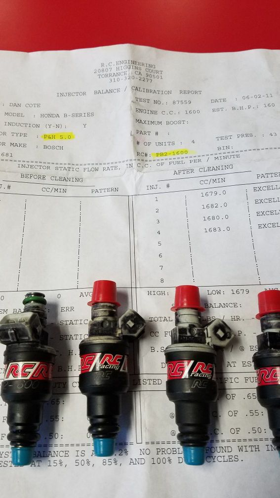 RC 1600cc rc 1600 cc injectors b d h series for Sale in Ontario, CA -  OfferUp