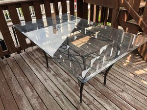 Glass Dining Table with 4 Chairs for Sale in Baltimore, MD
