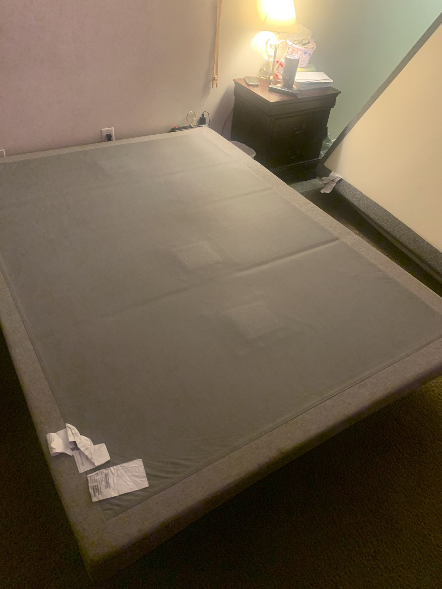 Bed frame only queen size