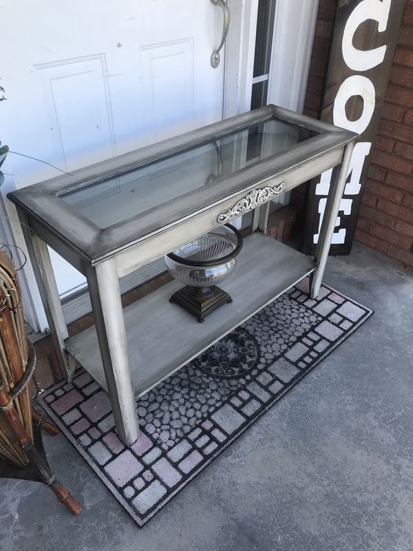 Shabby Chic Shadow Box Sofa Table For Sale In Powell TN OfferUp - Shadow box sofa table