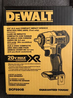 Photo NEW DEWALT 20-Volt Max Lithium-Ion 3/8 in. Cordless Compact Impact Wrench (Tool-Only)NO BATTERY NO CHARGER