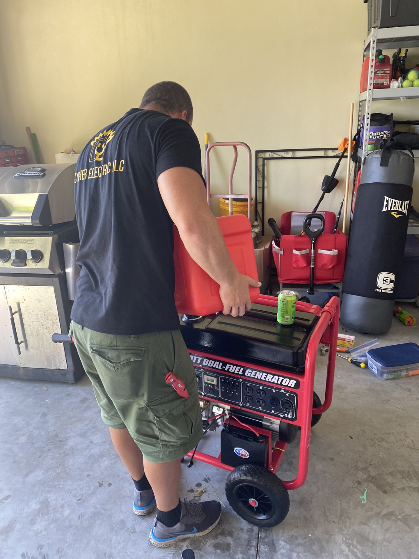 Generator plug and safety interlock