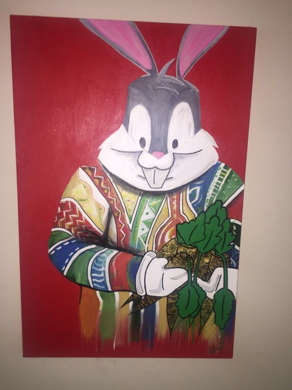 Original Bugs Bunny Notorious BIG Painting For Sale In Tempe AZ