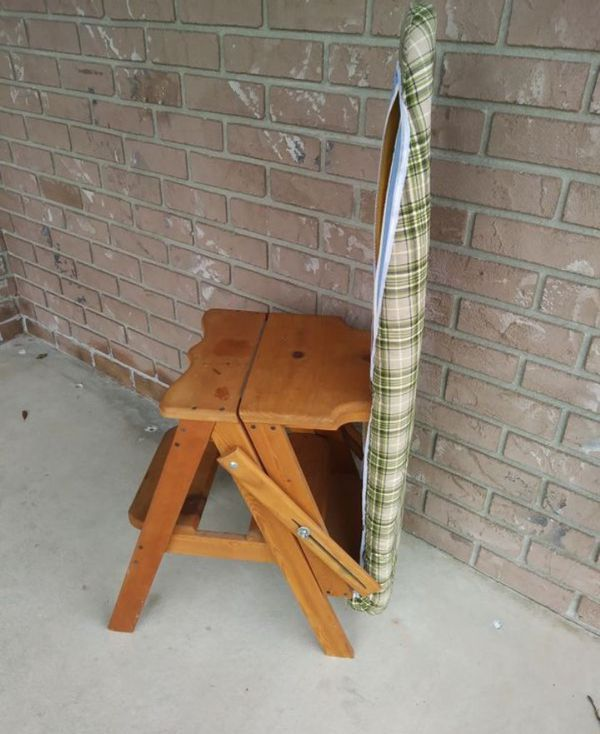 RARE ANTIQUE AMISH MADE ONIT CHAIR-IRONING BOARD for Sale in Deltona, FL -  OfferUp - RARE ANTIQUE AMISH MADE ONIT CHAIR-IRONING BOARD For Sale In Deltona