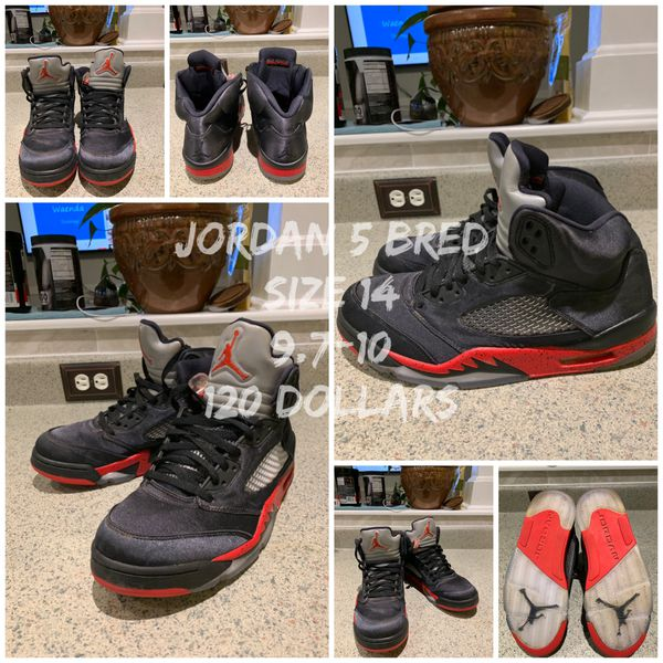 426f9d84b6fdb2 Retro Jordan 5 Bred size 14 for Sale in Durham