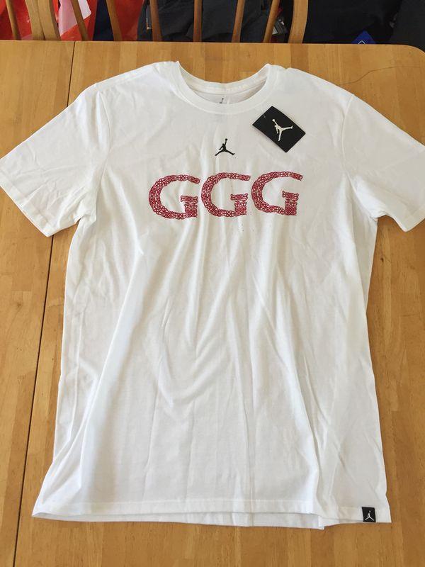 190805e192c Brand new triple G GGG Nike air Jordan men's large shirt boxing Golovkin L