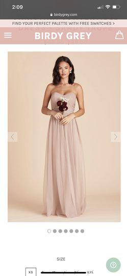 Mauve Bridesmaid Dress Thumbnail