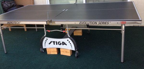 Stiga Aerotech Evolution Series Ping Pong Table As Is