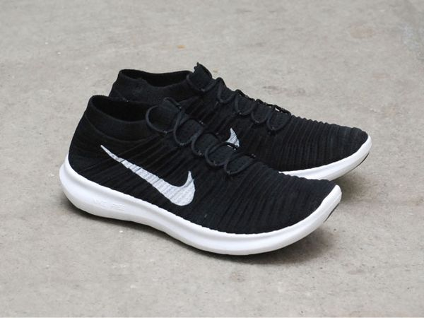 free shipping be59d ae426 Nike Free Run Flyknit Black White size 13 for Sale in Fairfax, VA - OfferUp