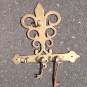 Vintage key holder with two keys for Sale in Portland, OR