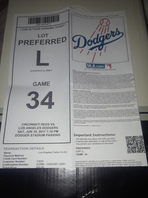 Dodger stadium preferred parking for Sale in Los Angeles, CA - OfferUp