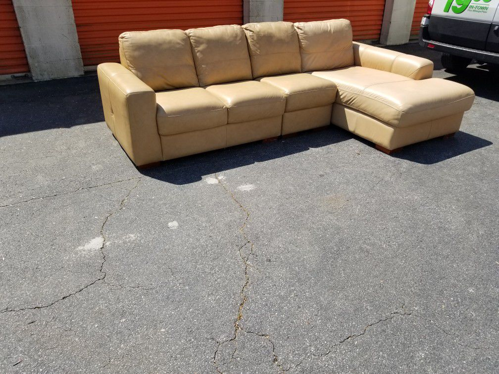 3pc Chateaux D'Ax Sofas Italian Leather Sectional
