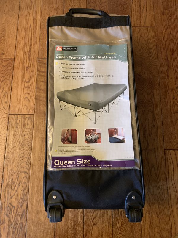 Ozark Trail Queen Frame With Air Mattress For Sale In