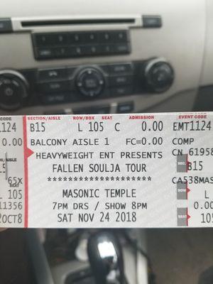 Fallen Soldiers Rick Ross concert tixs for Sale in Detroit, MI