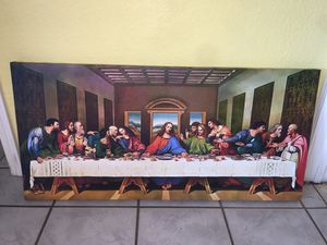 Last Supper (ultima cena) Large Canvas Wrap print for Sale in Riverbank, CA
