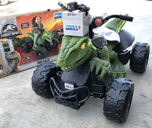 424e459858df3 BRAND NEW Jurassic World Dinosaur Quad 12volt electric kids ride on cars power  wheels for Sale in Corona