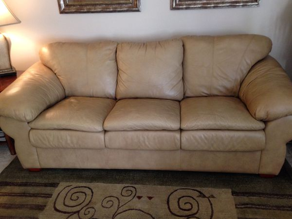 Top Grain Tan Leather Sleeper Sofa For Sale In Centreville Va Offerup