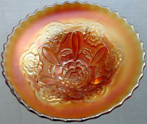Carnival Glass Double Stem Rose for Sale in Seattle, WA