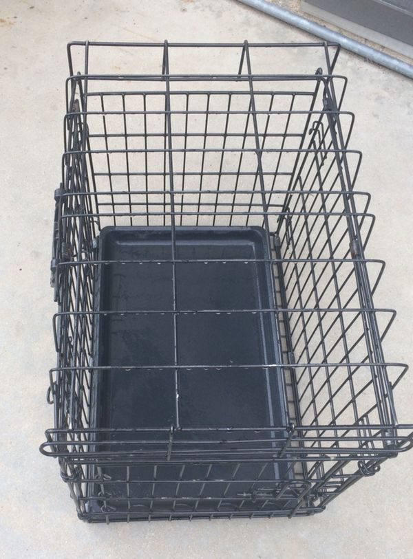 Top Paw Double Door Wire Dog Crate Size 20l X 14w X 16h Black