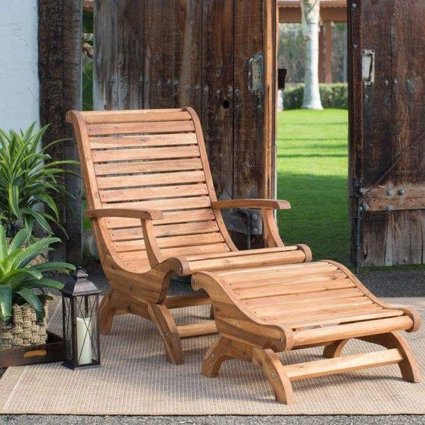 Strange Adirondack Chair Ottoman Set Wood Patio Furniture Footrest Pabps2019 Chair Design Images Pabps2019Com