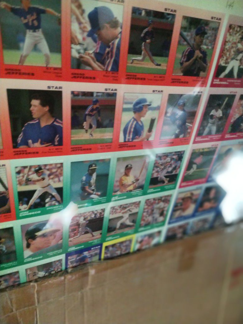 Baseball Uncut Sheet Many Available Years.