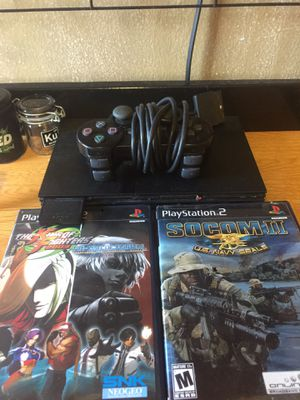 Ps2 with three games kof 2002 kof 2003 and socom 2 for Sale in Hyattsville, MD