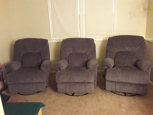 Swivel rocker recliners for Sale in Herndon, VA