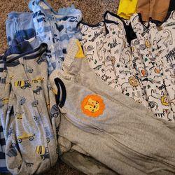 Jammies zip up pajamas sleepers  Thumbnail