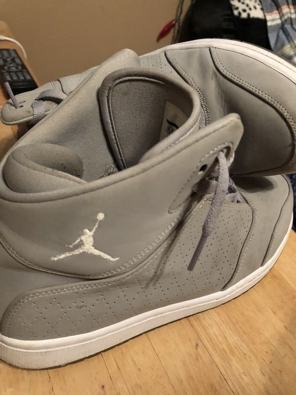 3894fc00817a Jordan Flight 7s (white on grey with ice bottoms) for Sale in Sterling ...