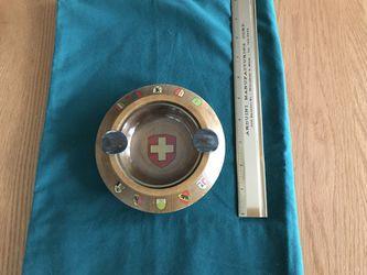 Vintage Swiss wood ashtray Thumbnail