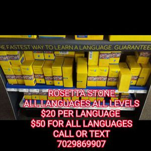 Rosetta Stone All Languages All Levels For Sale In Sacramento Ca