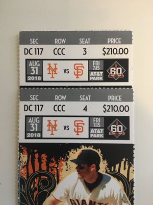 Giants vs. Mets tickets for Sale in St. Louis, MO