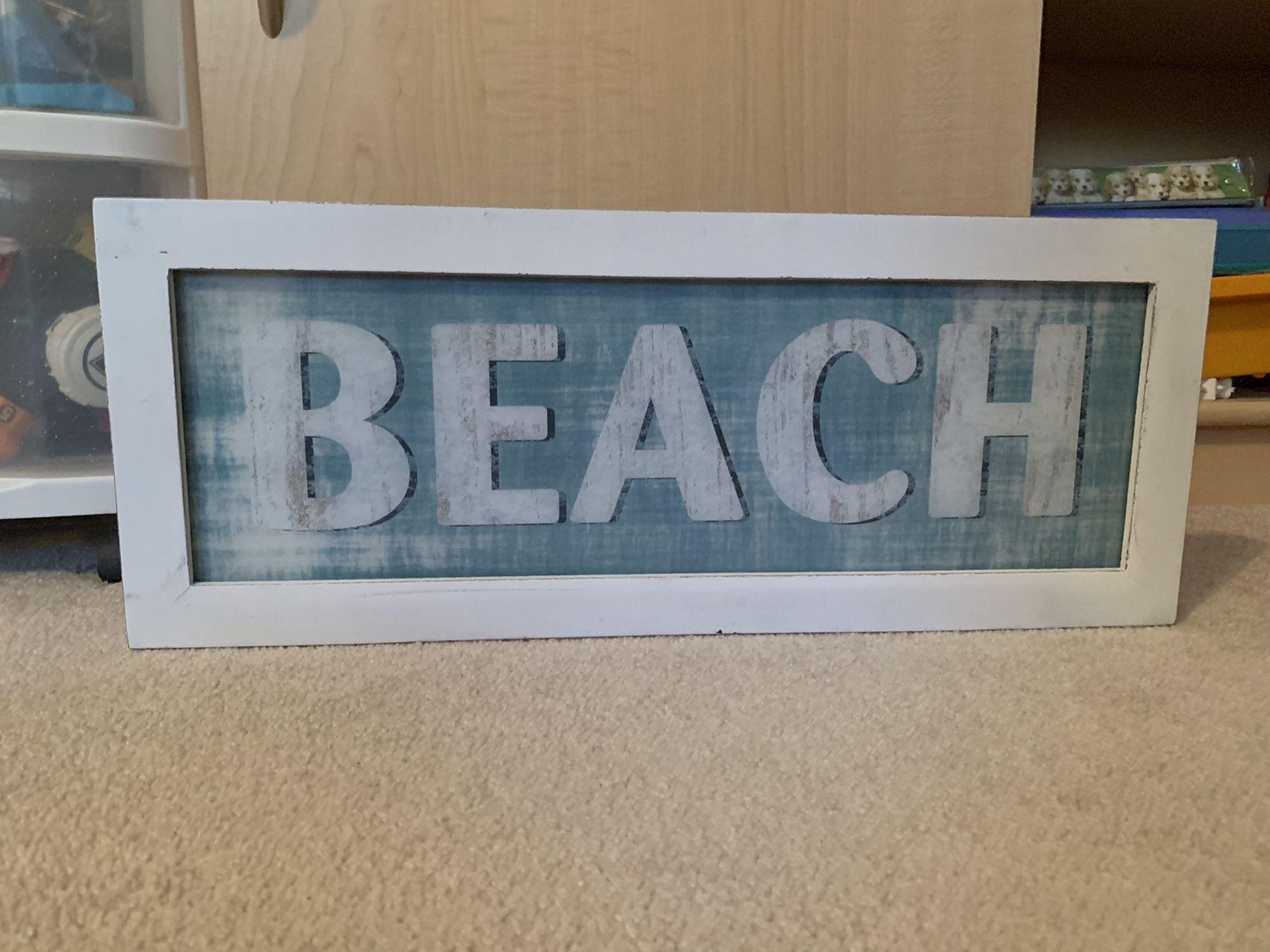 """""""BEACH"""" light-up sign"""