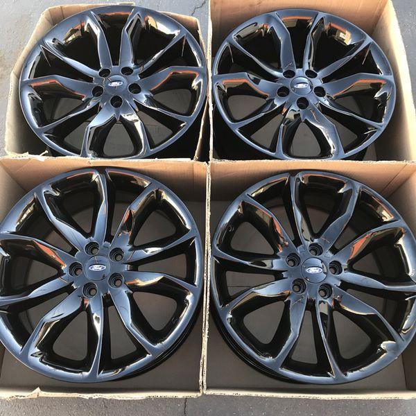 """New 20"""" Oem Ford Explorer Sport Factory Wheels 20 Inch New Gloss Black Rims Ford Explorer For"""