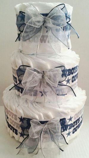 Dallas Cowboys themed diaper cake for Sale in Centreville, VA