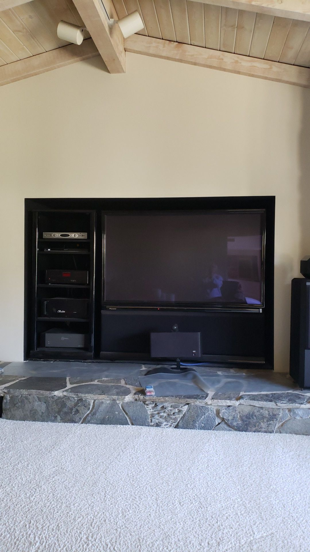 """Pioneer Elite 62"""" HDTV in Perfect Condition w/ matching stereo cabinet"""